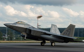 Picture Fighter, USAF, Landing, F-22 Raptor, Chassis, PTB
