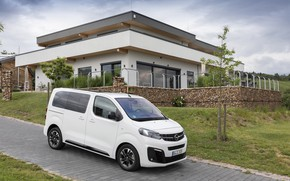 Picture photo, White, Opel, Car, Van, 2019, Zafira Life Small