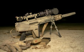 Picture machine, military assault rifle, SCAR 17