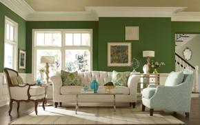 Picture design, Villa, interior, living room