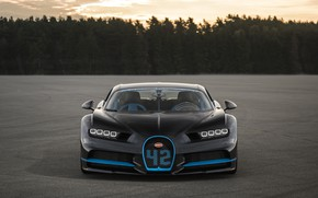 Picture Bugatti, supercar, hypercar, 2017, Chiron, 42 seconds