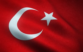 Picture flag, turkey, moon star