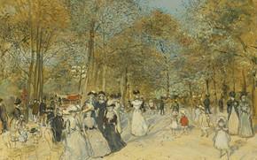 Picture picture, genre, Jean-Francois Raffaelli, Jean-François Raffaëlli, Elysian Fields