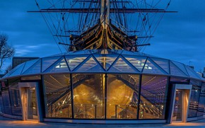 Picture England, London, sailboat, Greenwich, clipper, Cutty Sark