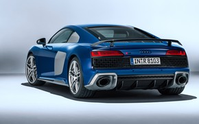 Picture Audi R8, rear view, V10, 2019