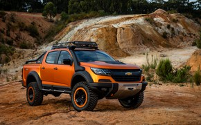 Picture vegetation, Chevrolet, pickup, 4x4, Colorado, Z71, quarry, 2016, Xtreme Concept