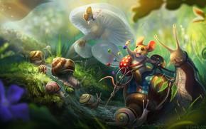Picture stream, butterfly, mushrooms, snail, mouse, warrior, fantasy, art, scissors, children's, pin, pincushion, Diane ÖZDAMAR, Tiny ...