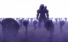 Picture cemetery, helmet, halo, spartan, master chief, John-117