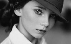 Picture white, black, hat, woman