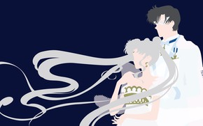 Picture girl, romance, pair, guy, two, Sailor Moon
