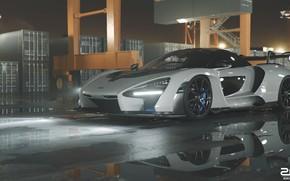 Picture McLaren, Auto, Port, White, Machine, Car, Supercar, Sports car, Container, Senna, Transport & Vehicles, Zoki …