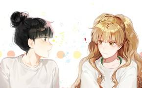 Picture white background, two, Kimi ni Todoke, To reach you, Sawako Kuronuma, Kurumizawa Ume