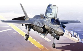 Picture USA, F-35 Lightning II, Combat aircraft, Deck-based aircraft
