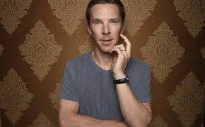 Picture background, t-shirt, actor, Benedict Cumberbatch, Benedict Cumberbatch, British actor