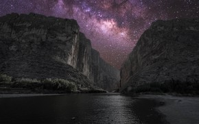 Picture stars, USA, The Milky Way, Texas, canyon Saint Helena, National Park big bend
