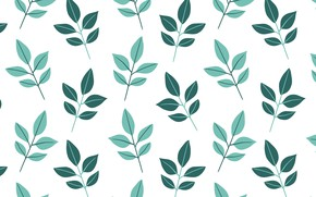 Picture white, background, texture, leaves, background, pattern, Leaves