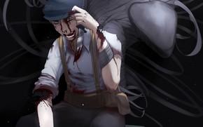 Picture smile, blood, male, wounds, Gato, immortal, Ajin: Demi-Human, Adzhin
