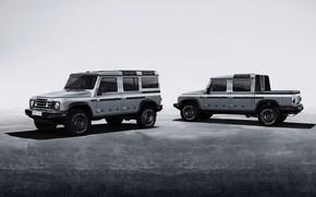 Picture grey, background, SUV, prototype, pickup, Grenadier, Ineos