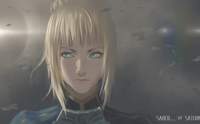 Picture girl, face, Saber, Fate / Stay Night, Fate stay Night