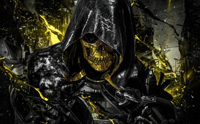 Picture death, fear, darkness, skull, destruction, hood, horror, chaos, horseman of the Apocalypse, Sawan, orbit, human