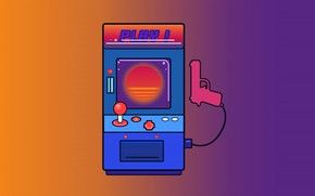 Picture Minimalism, Music, Background, Machine, 80s, Illustration, Play, 80's, Synth, Retrowave, Synthwave, New Retro Wave, Futuresynth, …