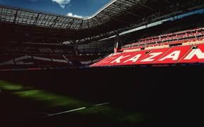 "Picture Field, Russia, Kazan, Stadium, Lawn, Tribune, Tribune, Rubin, ""Kazan Arena"", Kazan Arena, Kazan Arena"