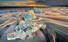 Picture sand, beach, shore, coast, ice