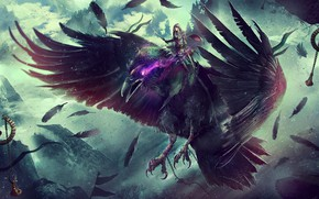 Picture World of Warcraft, Blizzard, Night Elf, Concept Art, Elf, Eddy Shinjuku, Raven, Creatures, Game Art, …