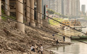 Picture people, shore, chain, pond, HUMAN vs CITY CHONGQING