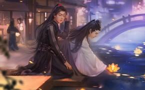 Picture lake, China, art, Lotus, the series, guys, Mo Dao Zu Shi, Master evil cult, Wei …