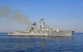 Picture ship, Moscow, cruiser, rocket, guards