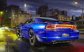 Picture City, Car, Art, Dodge Charger, Sketch, Alexander Sidelnikov