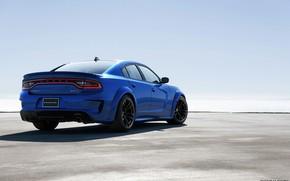 Picture Auto, Blue, Machine, Car, Car, Render, Dodge Charger, Hellcat, Rendering, SRT, Sports car, Blue color, …