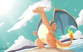 Picture dragon, dinosaur, Pokemon, Pokemon, Charizard