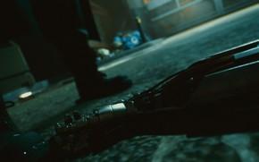 Picture Night, Asphalt, Lane, Cyberpunk 2077, Crime, Silverhand, Night city 2077
