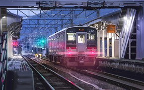 Picture train, art, railroad