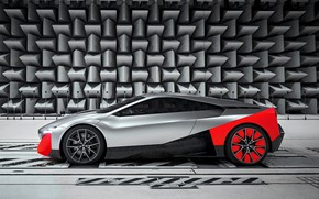 Picture coupe, BMW, 2019, on wall background, Vision M NEXT Concept