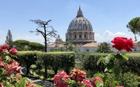 Picture flowers, Park, The Vatican, St. Peter's Cathedral, Сады Ватикана