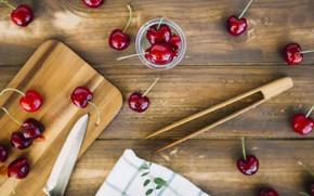 Picture berries, fresh, wood, cherry, ripe, cherry, berries