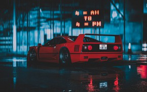 Picture Red, Auto, The game, Machine, Car, NFS, Ferrari F40, Sports car, Need For Speed 2015, …