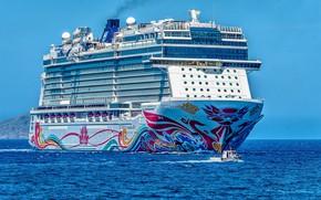 Picture Sea, White, Liner, Boat, The ship, Nose, Tank, Passenger liner, Vessel, Passenger Ship, George Desipris, …