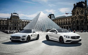 Picture Paris, Auto, The Louvre, Machine, Mercedes, Car, Car, Render, AMG, Rendering, Mercedes-AMG, Transport & Vehicles, …