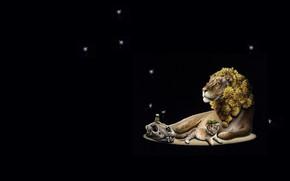 Wallpaper nature, skull, Leo, baby, art, lion, Jacub Gagnon, dzwonczyk