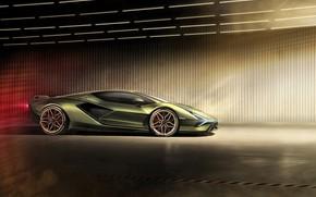 Picture machine, light, Lamborghini, supercar, drives, Later