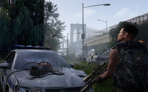 Picture Rosa, weapons, morning, soldiers, ruins, the vest, Tom Clancy's The Division 2