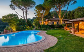 Picture Villa, pool, Italy, architecture, Tuscany, Monte Argentario, Villa Argentario