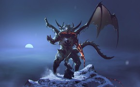 Picture Figure, The moon, Monster, Battle, The Lord Of The Rings, The demon, Fantasy, Balrog, Monster, ...