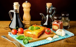 Picture oil, pie, jars, tomatoes, spices, tomatoes, vegetables, baking