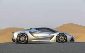 Picture Wheel, Lotus, Drives, Supercar, Dunes, Side view, 2020, Electric car, Evia, Lotus Evija