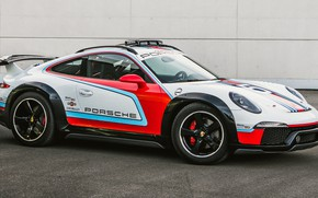 Picture machine, lights, tuning, Porsche, Porsche 911, tuning, Martini, sports car, Porsche 911 Vision Safari